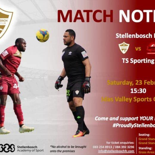 Weekend's match notice