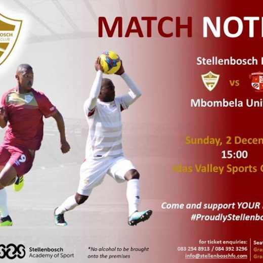 Match notice for the weekend
