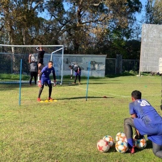 @keegz_01 on the training field. Nice backing up @leelangeveldt ! #stellenboschfc #choiceofchampions #proudlystellenbosch #sashp…